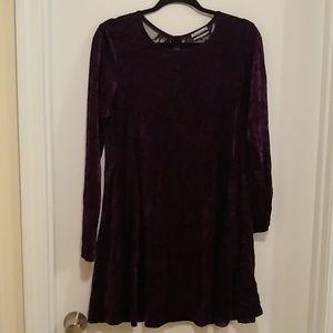 Contempo Casuals vintage purple velvet dress